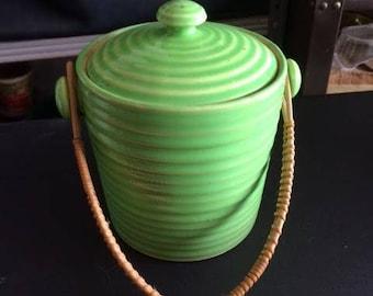 Moriyama Green Biscuit Jar