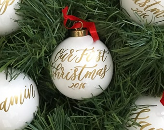 our first christmas ornament 2018 couples christmas gift christmas decoration glass christmas ornaments