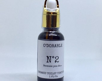 N0.2 Because you do... - O'Dorable - Organic Bathroom Toilet Odor Destroying Tincture Drops - Soap Plantation Naturals - Chesilhurst Farm