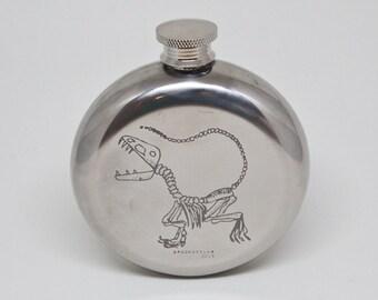 Dinosaur Fossil Stainless Steel Round Flask 5oz