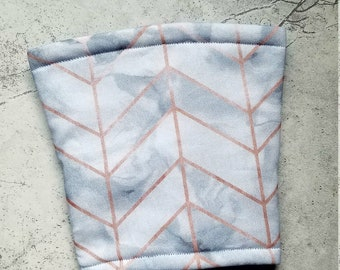 Marble rose gold herringbone