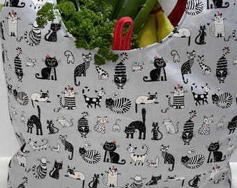 Cat Reusable Shopping Bag, Market Bag, Tote
