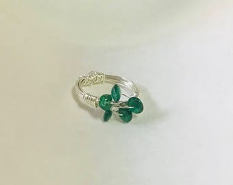 Aventurine Bird's Nest Ring