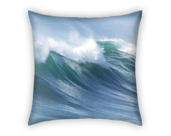 Wave Decor / Wave Pillow / Ocean Wave Pillow - Home Decor / Beach Decor / Beach House Decor - Gift for Him / Gift for Her / Christmas Gift