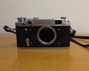 FED 2 Camera body, Soviet Film Rangefinder