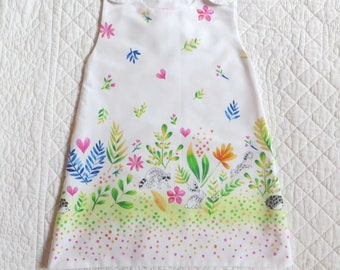 dress child pure cotton lined