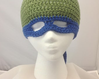Leonardo Teenage Mutant Ninja Turtle Hat Youth to Young Adult