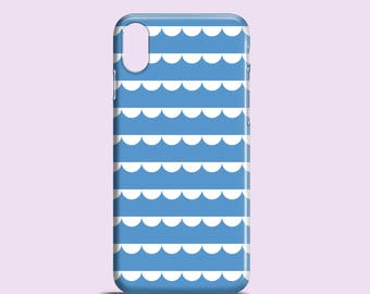 Blaue Spitze Telefon Fall / niedlich iPhone X Fall / Grafik blau iPhone 8, 8 Plus, iPhone 7, iPhone 6, 6 s, iPhone 5, SE, Samsung S7, S6, S6 Rand