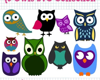 9 Owl SVG DXF Collection