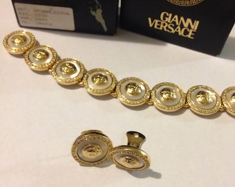 Beautiful 1990s Vintage Gianni Versace Set Bracelet & Earrings Collection