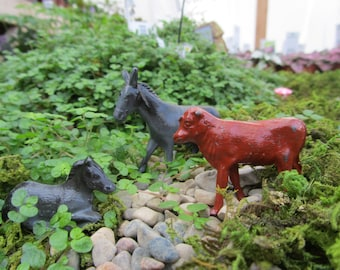 "Vintage Metal Horse or Donkey ""Pick 1"" Miniature Toy Animal"