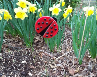Lady bug garden stake yard art house warming