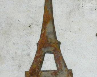 6 inch Eiffel Tower French France Landmark Building Metal Rough Rusty Vintage-y Steel Wall Art Ornament Craft Sign Wind Chime