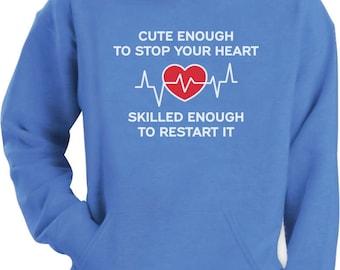 Restart Your Heart Funny Gift For Nurse Hoodie