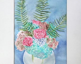 Watercolor Flowers, Home Decor, Wall Decor, Wall Art, Watercolor, Watercolor Painting, Mother's Day, Friendship, Birthday, Flower Painting