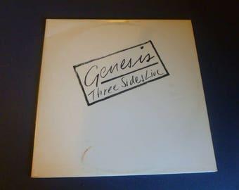 On Sale! Genesis Three Sides Live Vinyl Record LP SD2-2000 Double Album  Atlantic Records 1982
