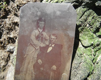 Tintype Photo - Handsome Couple