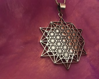 Sacred geometry mandala earrings