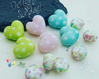 Lampwork Glass Beads Delightful Sundae 50's Diner Range