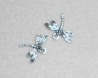 Silver Dragonfly Charms