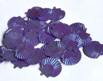 35 Matte / Purple Color / Japanese Fan Shape / Code PIS217