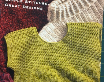 CROCHETED SWEATERS Simple Stitches Great Designs by S.Huxley