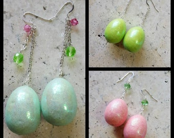 Easter egg earrings