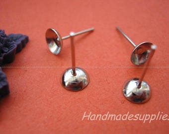 Set of 50 earrings featuring 6mm support (AFGFD)