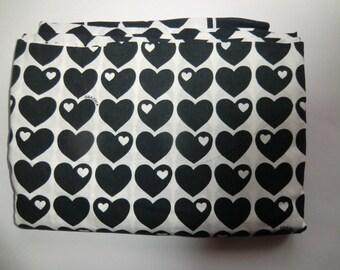 Vintage fabric fabric Tissue 70s 70s Graziela hearts cotton duvet cover duvet cover