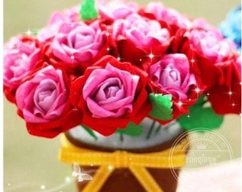 YoMi Crafts Felt Sewing Kit- Rose / Sunflower - Handmade Gifts - DIY