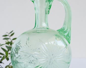 Victorian Green Glass Jug