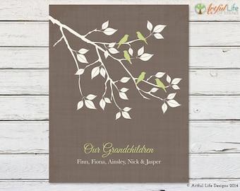 GIFT for GRANDPARENTS from Grandkids, Grandchildren Print, Gift for Grandma, Gift for Grandpa, Our Grandchildren, Grandparent Keepsake