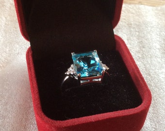 Topaz, Sapphire and Sterling silver ring, several colors