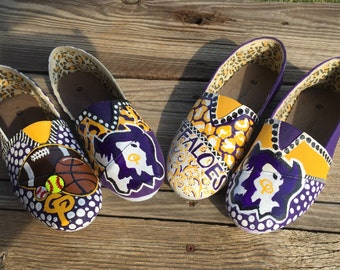 Hand Painted Canvas/Toms Shoes School Spirit Shoes