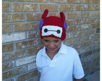 Baymax from Big Hero 6 Winter Hat! Handmade Crocheted Baymax hat :)