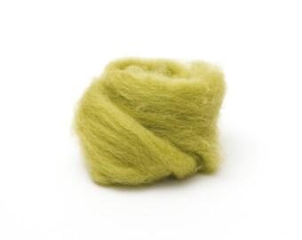 Lima Bean Wool Roving for Felting - 1 oz. Corriedale