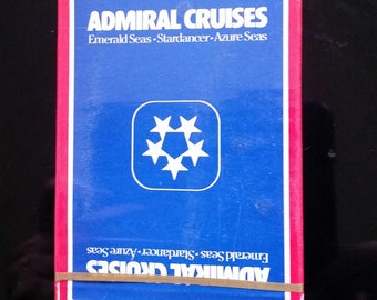 vintage deck of Playing Cards ADMIRAL CRUISES sealed in box