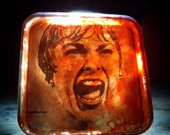 Psycho Night Light Retro Horror Decor Alfred Hitchcock Norman Bates Motel Nightlight Plug In Janet Leigh Creepy Vintage Gift Marion Crane