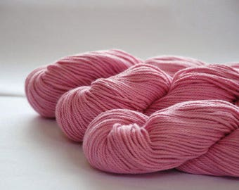 SOFT PINK ~ ARAN Pure natural Cotton yarn ~ co.no 33