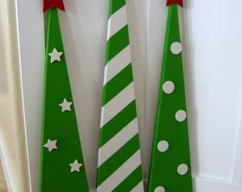 SALE  Wooden Christmas Trees Home Decor
