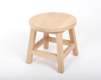 childrens insteading wood stools kitchen wooden blog stool