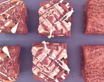 Gluten Free Brownie - Chocolate Fudge, Peanut Butter and Salted Caramel Gift Box Hamper