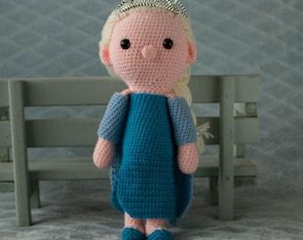 Handmade crochet cuddle toy Elsa