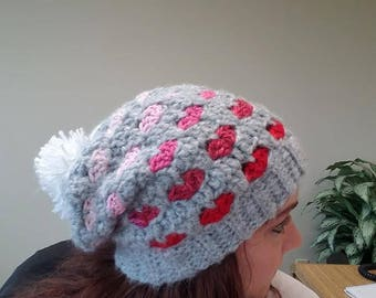 Customized Hearts Hat