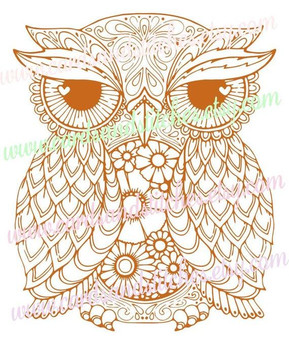 Owl Mandala SVG Owl SVG Mandala Owl SVG Digital Cutting