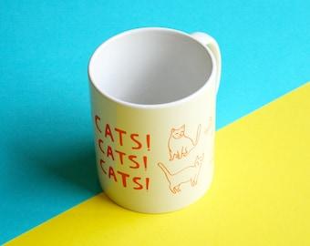 Mug - Cats! Cats! Cats!   | Coffee Mug | Cup | Drinking Cup | Funny Mug | Cat Mug