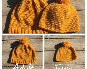 Adult and Toddler Hat