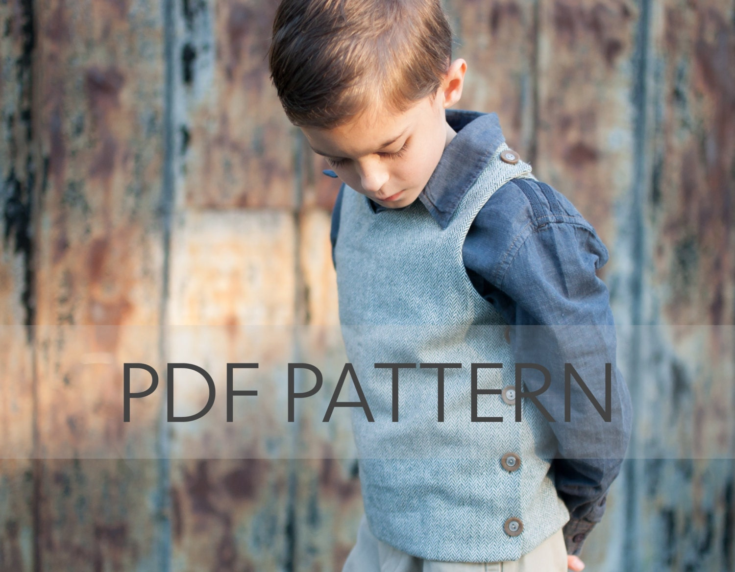 Hastings Vest PDF vest pattern sewing for boys fall