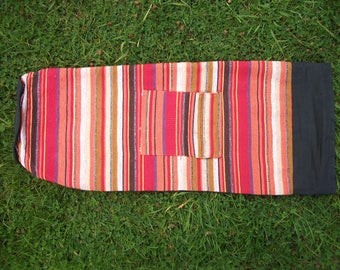 Indian Upcycled Cotton Yoga/Pilates Mat Bag - 3 colours available