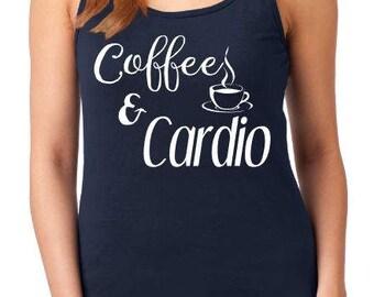 Coffee & Cardio tank, women's tank, coffee tank, workout tank, cardio tank
